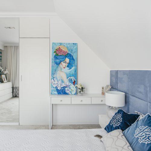 Sypialnia w stylu Hampton